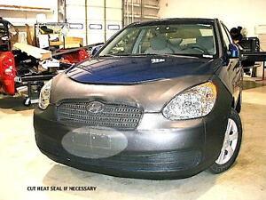 Lebra Front End Mask Cover Bra Fits 2006-11 Hyundai Accent bottom black spoiler