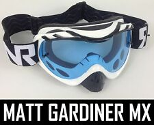 Rip And Roll Tear Off Motocross Mx Goggles híbrido Rnr Limitada Blanco Negro Nuevo