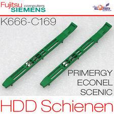2x Hdd Hard Drive Installation Rail Tracks Fsc Primergy Econel 50 40 K666-c169
