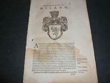 1654 71  C. DE LELLIS FAMIGLIE NOBILI REGNO NAPOLI FAMIGLIA MILANO ARALDICA