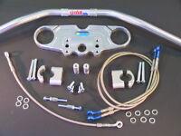 ABM Superbike Lenker Umbau - Kit Kawasaki ZX 7 - R / RR ab '95 silber eloxiert