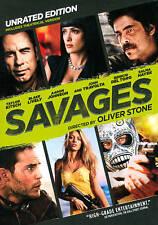 BRAND NEW   SAVAGES Unrated ED.(DVD, 2012)Travolta+Hayek+Oliver Stone!