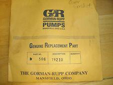 Gorman-Rupp 50G 19210 Gasket; New, old stock