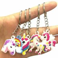 5Pcs Silicon Unicorn Keyring Pendant Key Chain Kid Birthday Party Decor Gift