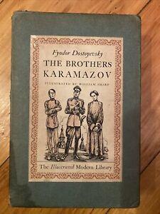 The Brothers Karamazov Fyodor Dostoyevsky 1943 Illustrated William Sharp w/slipc