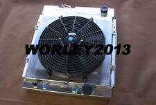 3 core aluminum radiator + shroud + fan for MUSTANG V8 289 302 WINDSOR 1964-1966