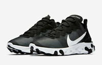 Nike React Element 55 Black Multi Size US Mens Athletic Running Shoes Sneakers