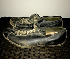 Vintage 1930s Leather Baseball Football Athletic Shoes with Cleats Size 10!