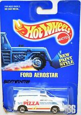 HOT WHEELS 1991 BLUE CARD FORD AEROSTAR #186 WHITE 16