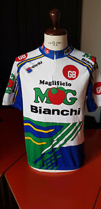 1993 MG GB BIANCHI vintage cycling jersey maglia ciclismo maillot cyclisme