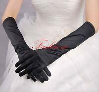 Elbow Length Gloves Black Wedding Halloween fancy dress costumes Accessories