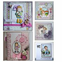Clear Photo Album Transparent Stamp Scrapbooking Lovely Girl Silicone Rubber