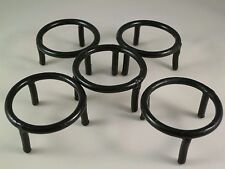 "1.5""D X 1.0""H SET OF 5 WROUGHT IRON Sphere and Egg DISPLAY STANDS - BLACK"