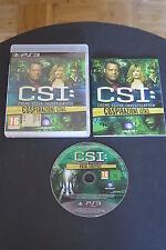 PS3 : CSI : COSPIRAZIONE LETALE - Completo, ITA ! Crime Scene Investigation