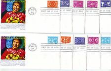 5081-90 Colorful Celebrations set of 10 Panda Cachets, FDCs