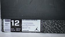 BOX ONLY Nike Air Jordan Retro III 3 True Blue/White/Fire Red sz 12 BOX ONLY