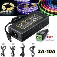 AC 100-240V To DC 12V 2/3/4/5/6/8/10A Power Supply Adapter Transformer LED Strip