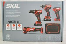 Skil CB736801 PWRCore 12 12V Brushless 5-Tool Combo Kit + 2 Batteries w/ Charger