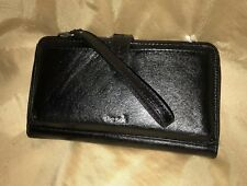 "LEATHER  8"" The Sak   3 in 1  Convertible Wristlet-Crossbody-Wallet black"