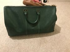Authentic Louis Vuitton Epi Keepall Boston Bag Green LV
