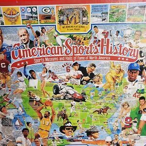 Vintage American Sports History Jigsaw Puzzle 1000 Pieces Athletes Complete