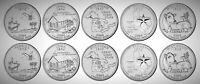 2004 USA State Statehood Quarters UNC BU P&D 10 Coin Set!!