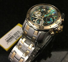 @NEW Invicta Women's 38mm Pro Diver Abalone Dial Two Tone Bracelet Watch 24833