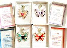 Bridesmaid Wedding Necklace Gift Butterfly Bridal Jewellery Flower girl boxed