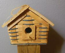 Hand Made Basket Bird House Teal and Natural 6.5 x 5.5 x 5""