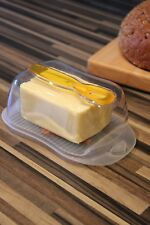 Classic Plastic Butter Dish, Clear Covered Butter Dish With Butter Spatula