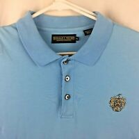 Donald J Trump Signature Collection Golf Club Polo Shirt Blue Cotton Men XL Logo