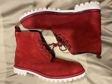 Lacoste Red Suede Wingtip Boot 9 chukka work brogue polo sneaker shirt leather