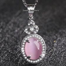 BLACK FRIDAY DEALS Gifts for Her Rose Pink Stone Necklace Wife Mother Women Xmas