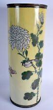 Antique 19Th Century Japanese Meiji Large Cloisonne Vase umbrella Stan