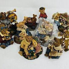 Lot of 9 Boyds Bears Bearstone Figurines All 1st Edition with Boxes Nice