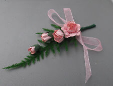 Pink Roses - Buttonhole - Wedding  Flowers - by Valerie J