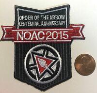 ORDER OF THE ARROW BSA NOAC 2015 OA 100TH DELEGATE CENTENNIAL AWARD PATCH EARNED