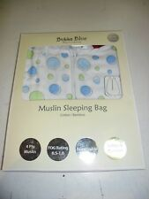 Bubba Blue Muslin Bamboo Sleeping Bag Medium Baby 6-12 Months Breathable Blue