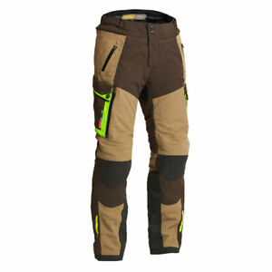Lindstrands Sunne Motorcycle Motorbike Textile Pants Brown / Yellow