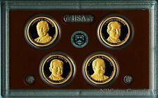2014 S Clad Proof Set PRESIDENTIAL Dollar 4 Coins w/o coa