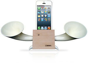 Wooden Loudspeaker for iPhoneSE/5c/5s/5/4s/4/iPodTouch5 - Color Wood W