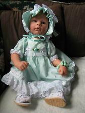 Lee Middleton Bunny Bundle Angel Baby Blonde Doll by and Signed Eva Helland