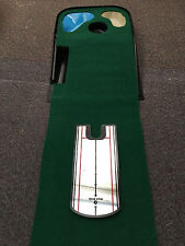 Deluxe JL Golf putting mat & mirror COMBO with hazards. Returns ball.xmas gift