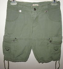 MOSSIMO SUPPLY CO, - KIDS - L 10-12  -  OLIVE GREEN - 100%COTTON  - CARGO SHORTS