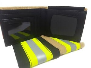 Firefighter Badge Wallet Reflective Turnout Fabric - Portefeuille Pompier