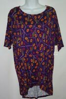 LuLaRoe Irma Top New With Tags Size XXS Multi Color New Tunic Short Sleeve b5