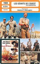 FICHE CINEMA FILM USA LES GEANTS DE L'OUEST/THE UNDEFEATED  Andrew V. McLaglen