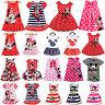 Kids Baby Girl Mickey Mouse Mini Dress Princess Party Tunic Summer Vest Sundress