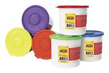 School Smart Non-Toxic Modeling Dough Classroom Pack, 3.3 lb Tub, Assorted Co.