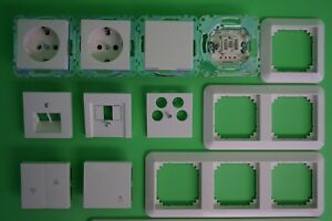 Merten System M / Rahmen 1-M 1M polarweiß glänzend Steckdose Schalter Wippe-Ausw